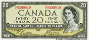 20 Dollars (Sans face de Diable) – avers