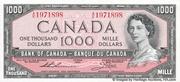 1,000 Dollars (Sans face de Diable) – avers