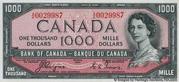 1,000 Dollars (Avec face de Diable) – avers