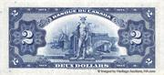 2 Dollars (Français) – revers