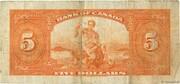 5 Dollars (Anglais) – revers