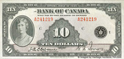 10 Dollars (Anglais) – avers