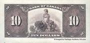 10 Dollars (Anglais) – revers