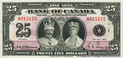 25 Dollars (Roi George V - Anglais) – avers