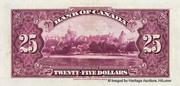 25 Dollars (Roi George V - Anglais) – revers