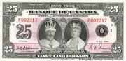 25 Dollars (Roi George V - Français) – avers