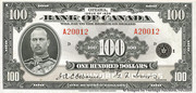 100 Dollars (Anglais) – avers