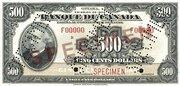 500 Dollars (Français) – avers