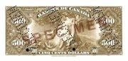 500 Dollars (Français) – revers