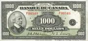 1,000 Dollars (Français) -  avers