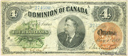 4 Dollars (Dominion of Canada) – avers