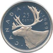 25 cents Elizabeth II (2e effigie) -  revers