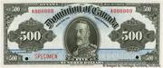 500 Dollars (Dominion of Canada) – avers