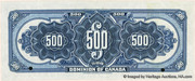 500 Dollars (Dominion of Canada) – revers