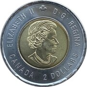 2 Dollars - Elizabeth II (Bill Reid; coloured) -  avers