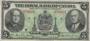 5 Dollars (The Royal Bank Of Canada) – avers