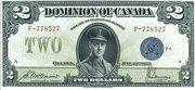 2 Dollars (Dominion of Canada) – avers