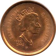 1 cent Elizabeth II (Jubilé d'or, non magnétique) -  avers