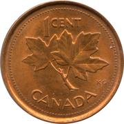 1 cent Elizabeth II (Jubilé d'or, non magnétique) -  revers
