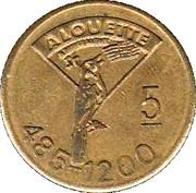 Game token - Alouette 5 – avers