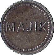 Jeton Majik – avers