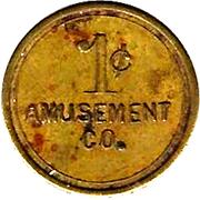 1 Cent - Amusement Co. – avers