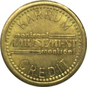 1 Credit - Karrum Amusement (Montreal, Quebec) – avers