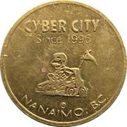 Game Token - Cyber City (Nanaimo, British Columbia) – avers