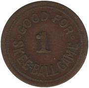 Good for 1 Skee-Ball Game (D.P. CO. LTD., Montréal, Québec) – revers