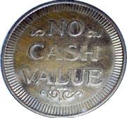 Jeton de lavage automobile - No Cash Value – revers