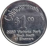 Jeton de lavage automobile 1 dollar - Coincarwash – avers