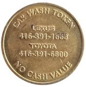 Jeton de lavage automobile - On The Park (Lexus Toyota) – revers