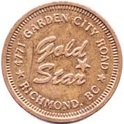 Jeton de lavage automobile - Gold Star (Richmond, British Columbia) – avers