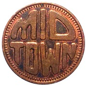 Jeton de lavage automobile - Mid Town Car Wash (Waterdown, Ontario) – avers