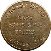 Jeton de lavage automobile - Royal Oak (Burnaby, British Colombia) – revers
