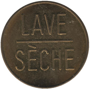 Jeton lave sèche Esso (Province de Québec) – revers