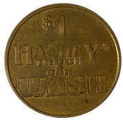 1 Dollar Dog Wash Token - Hachey's Truck & Car Wash – revers