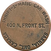 Jeton de lavage automobile - Thrift-I-Matic (Sarnia, Ontario) – avers