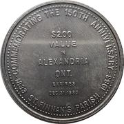 2 Dollars - Alexandria, Ontario -  avers