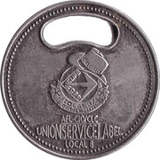 Jeton de chariot - Union Service Label – avers
