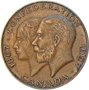 Médaille - 60eme de la Confédération Canadienne – avers