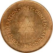 Médaille du centenaire de la Confédération canadienne – revers