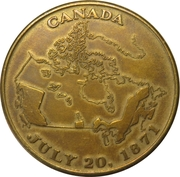 1971 British Columbia Centenary of Confederation with Canada Medal – revers