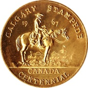 Calgary, Alberta - Calgary Stampede Souvenir Medal – avers