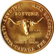 Calgary, Alberta - Calgary Stampede Souvenir Medal – revers