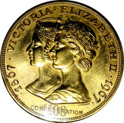 Confederation Centennial - Victoria / Elizabeth - 1967 – avers