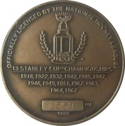Toronto Maple Leafs medallion - Numbered Edition – revers