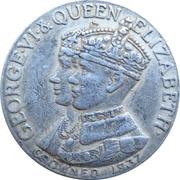 Medal - King George VI and Queen Elizabeth Coronation (Nova Scotia) – avers