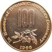 Medal - British Columbia's Centenary & Canadian Confederation – avers