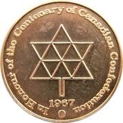 Medal - British Columbia's Centenary & Canadian Confederation – revers